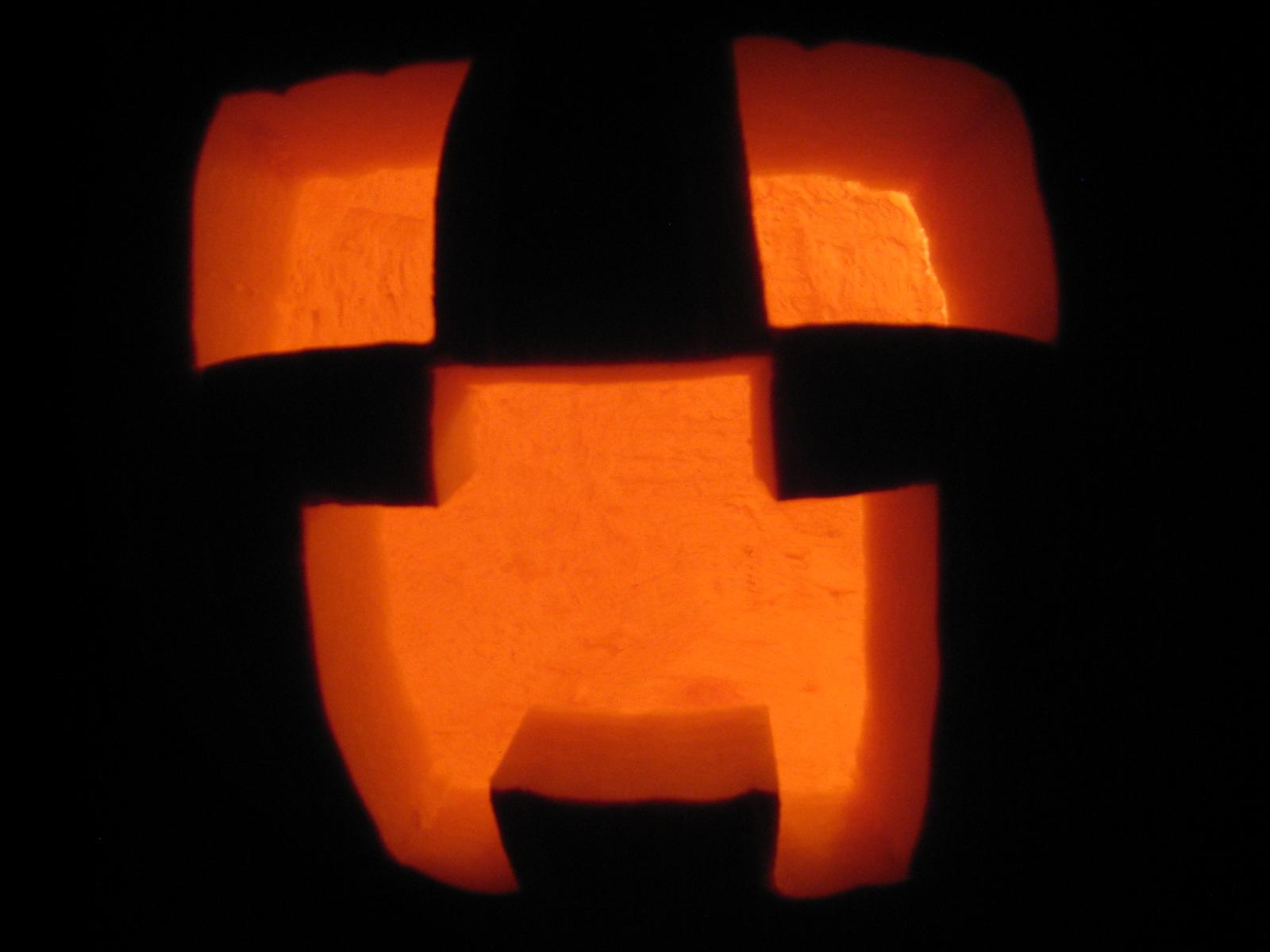 Pumpkin Minecraft Stencil